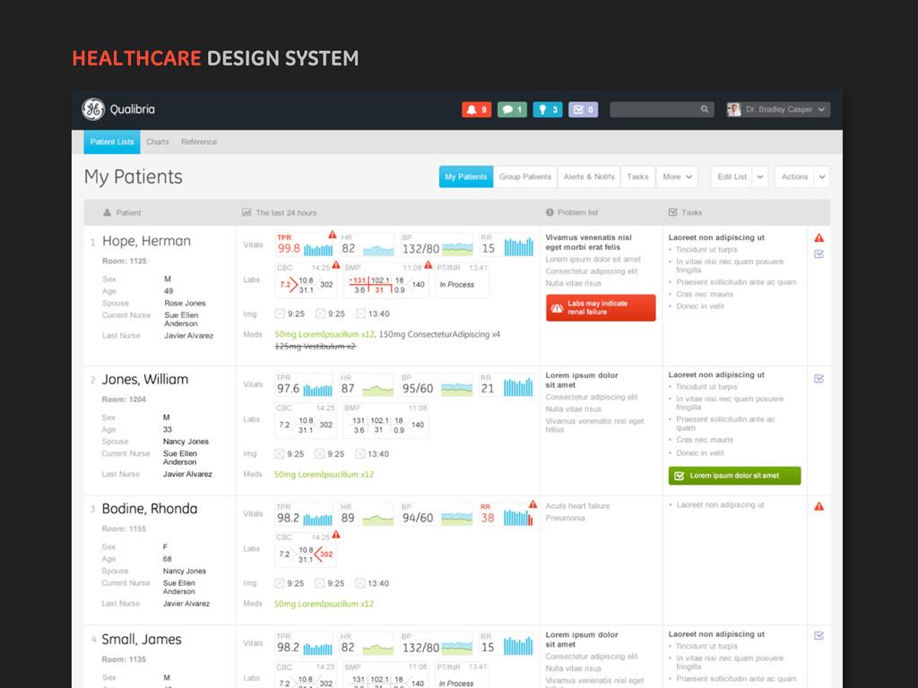 HEALTHCARE DESIGN SYSTEM