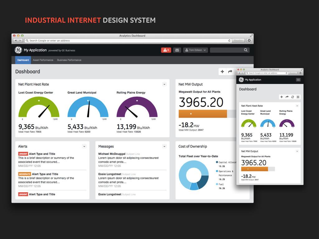 INDUSTRIAL INTERNET DESIGN SYSTEM