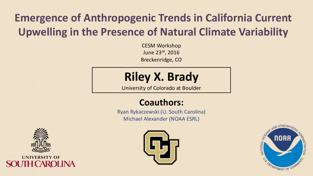 Emergence of Anthropogenic Trends in California...