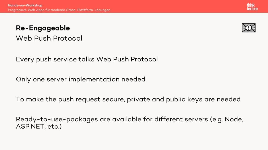 Web Push Protocol Every push service talks Web ...