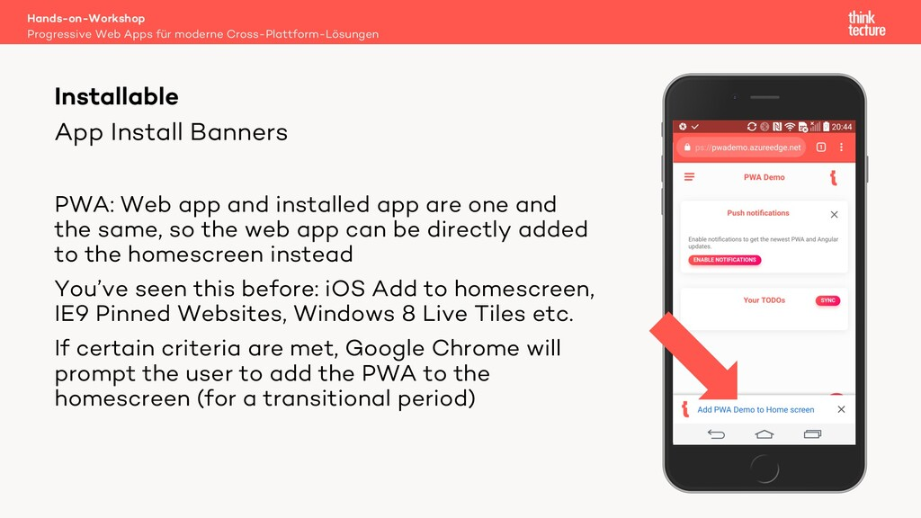 App Install Banners PWA: Web app and installed ...