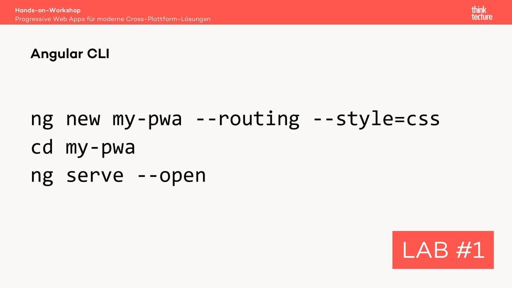 ng new my-pwa --routing --style=css cd my-pwa n...