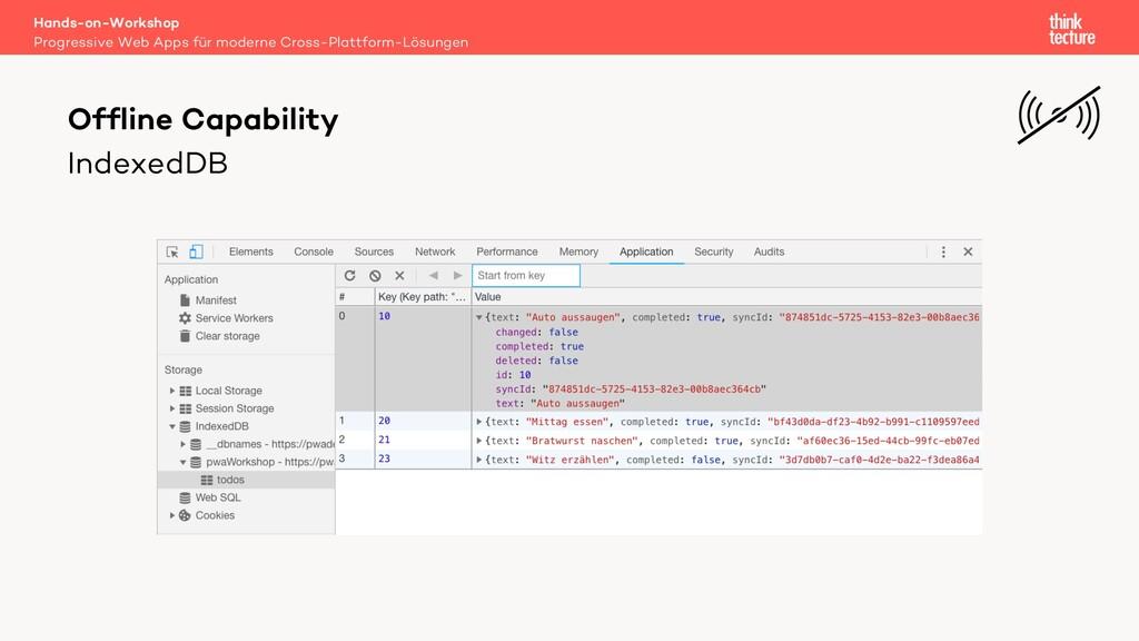 IndexedDB Hands-on-Workshop Progressive Web App...