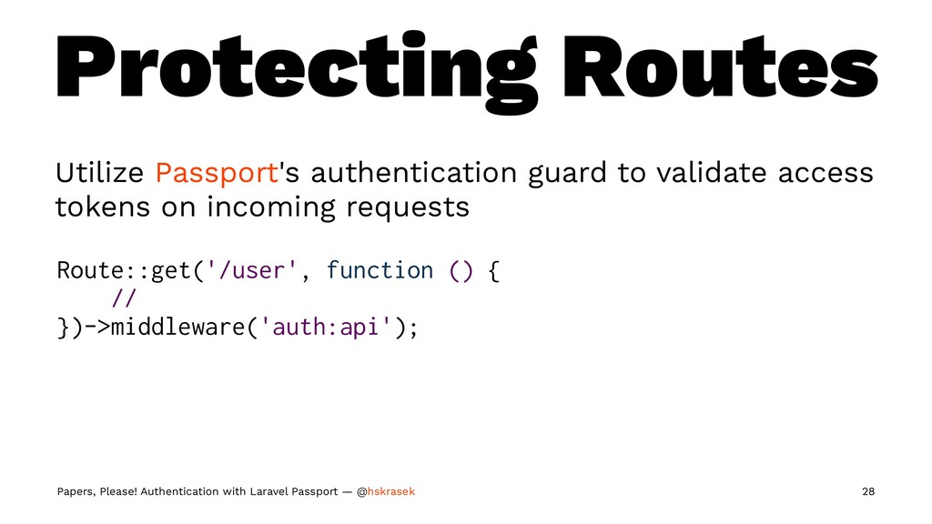 Protecting Routes Utilize Passport's authentica...