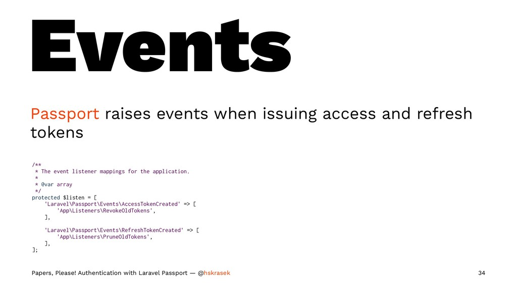 Events Passport raises events when issuing acce...