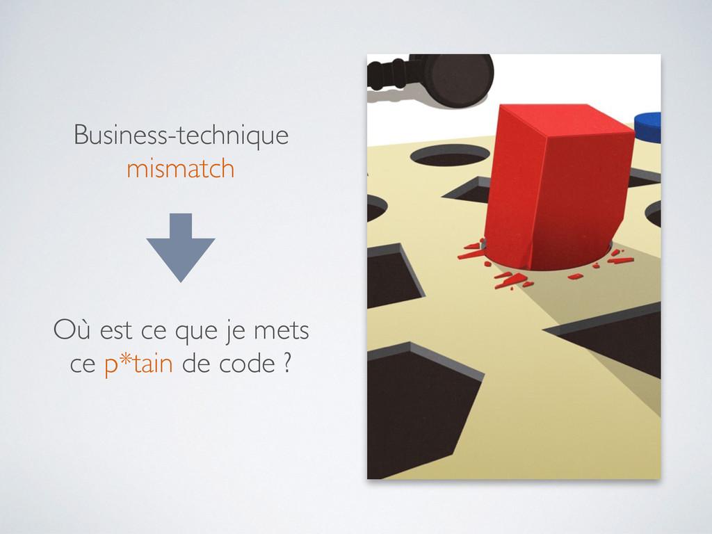 Business-technique mismatch Où est ce que je me...