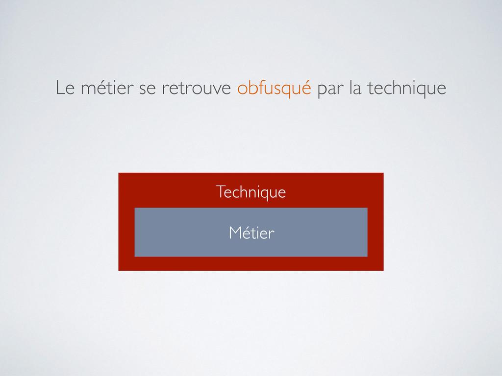 Technique Métier Le métier se retrouve obfusqué...