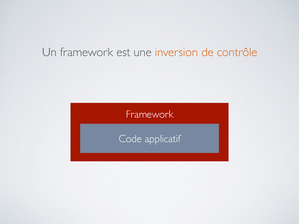 Framework Code applicatif Un framework est une ...