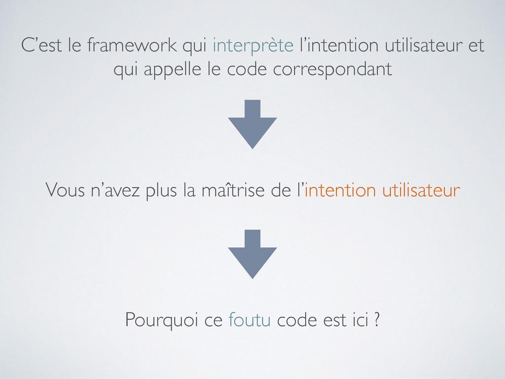 C'est le framework qui interprète l'intention u...