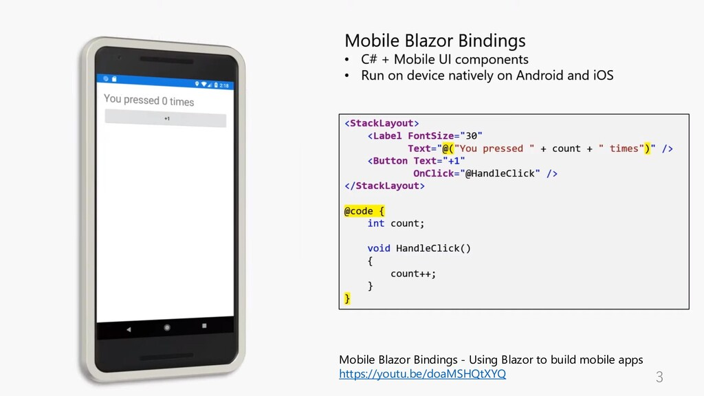 3 Mobile Blazor Bindings - Using Blazor to buil...