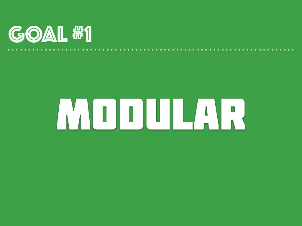 MODULAR GOAL #1 …………………………….………………………………