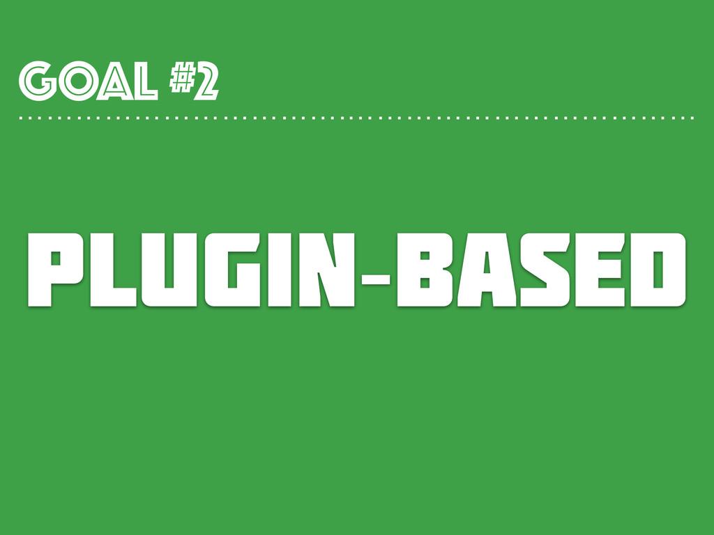 PLUGIN-BASED GOAL #2 …………………………….………………………………