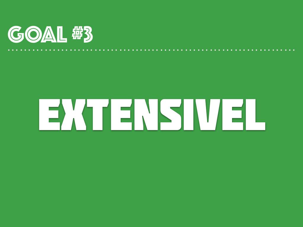 extensivel GOAL #3 …………………………….………………………………