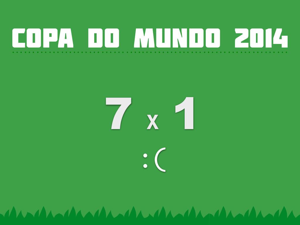 COPA DO MUNDO 2014 …………….…………….……………………………… 7 x...