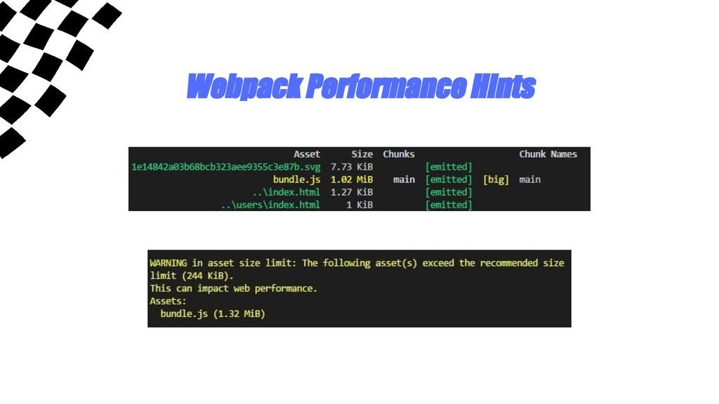 Webpack Performance Hints