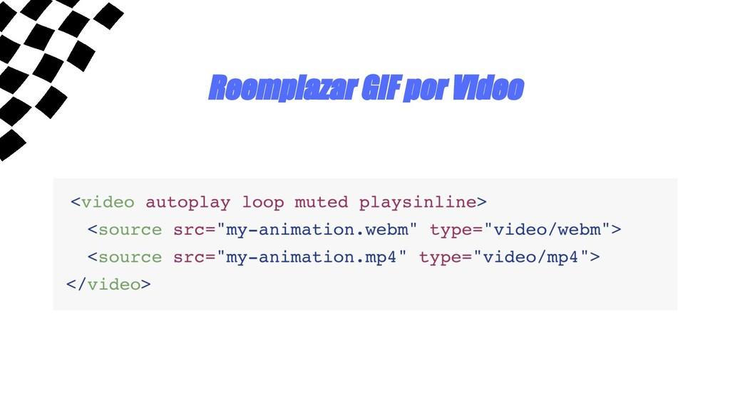 Reemplazar GIF por Video