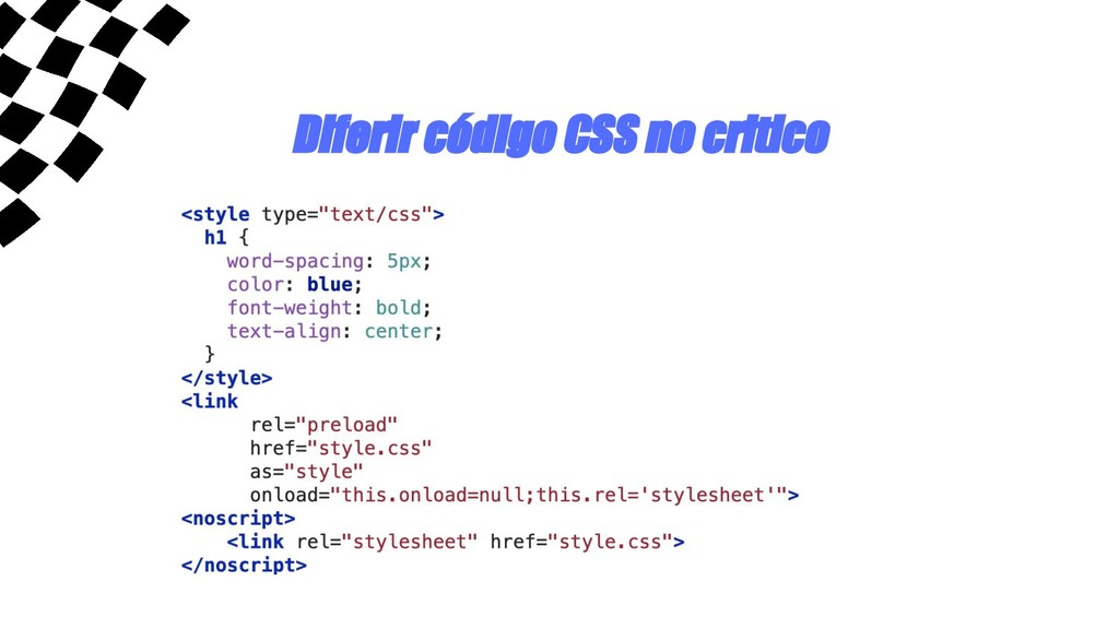Diferir código CSS no critico
