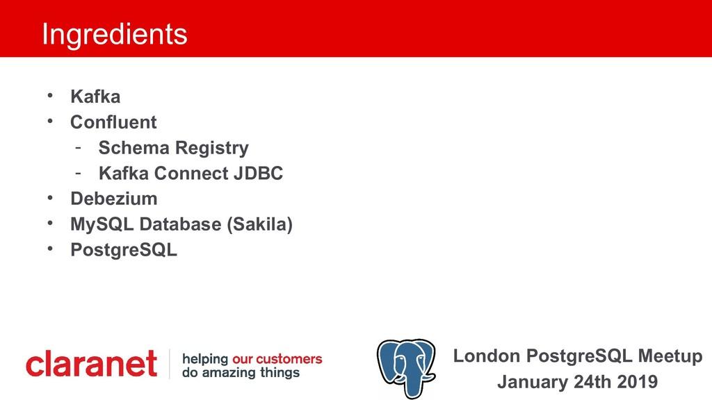London PostgreSQL Meetup January 24th 2019 Ingr...