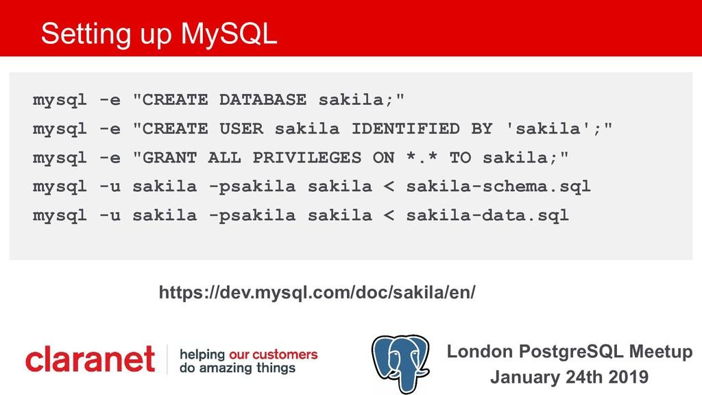 London PostgreSQL Meetup January 24th 2019 Sett...