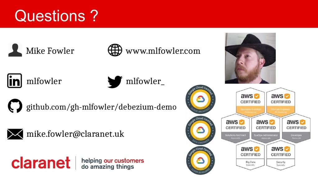 Mike Fowler www.mlfowler.com Questions ? mlfowl...