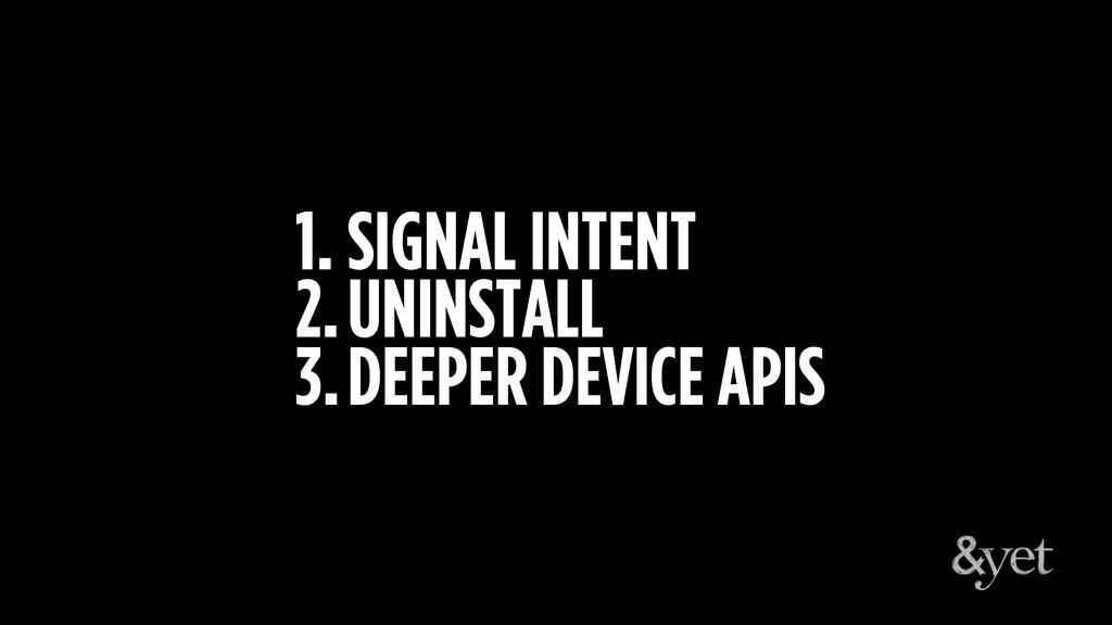 1. SIGNAL INTENT 2.UNINSTALL 3.DEEPER DEVICE AP...