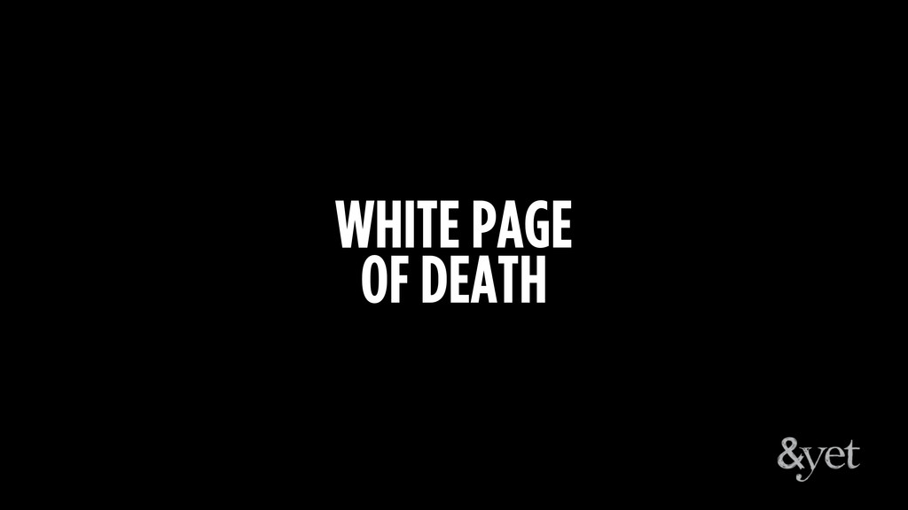 WHITE PAGE OF DEATH