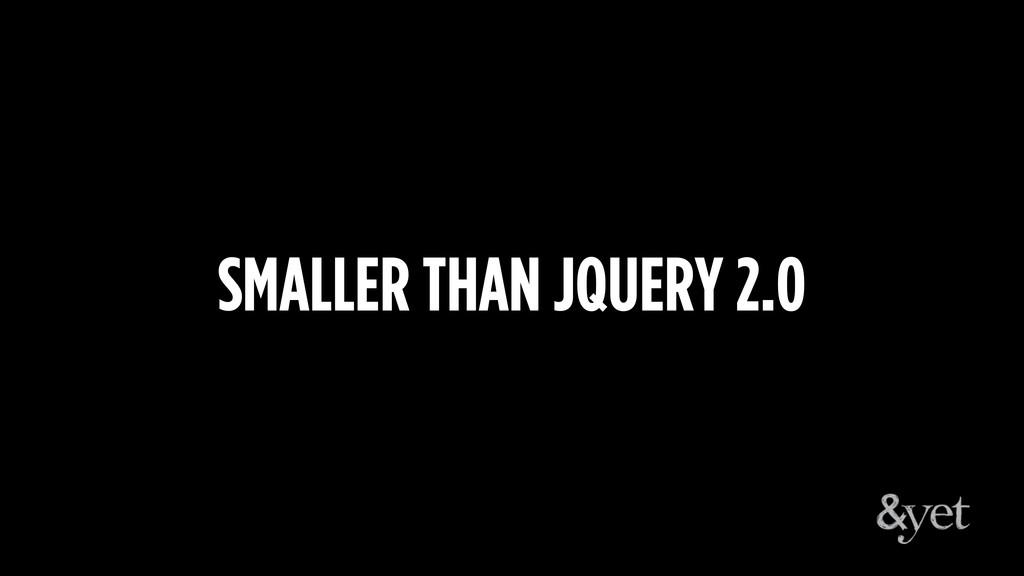 SMALLER THAN JQUERY 2.0
