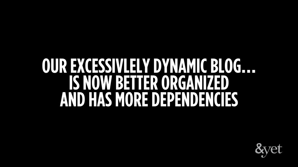 OUR EXCESSIVLELY DYNAMIC BLOG… IS NOW BETTER OR...