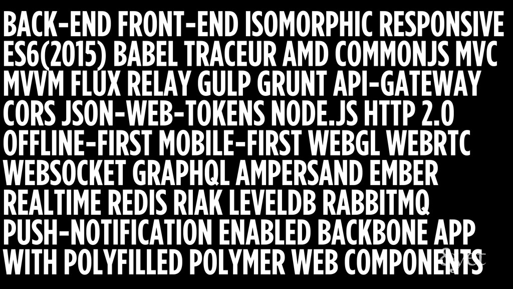 BACK-END FRONT-END ISOMORPHIC RESPONSIVE ES6(20...