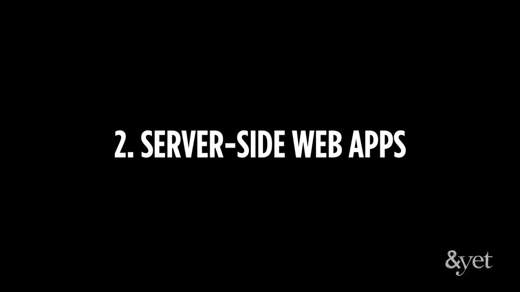 2. SERVER-SIDE WEB APPS