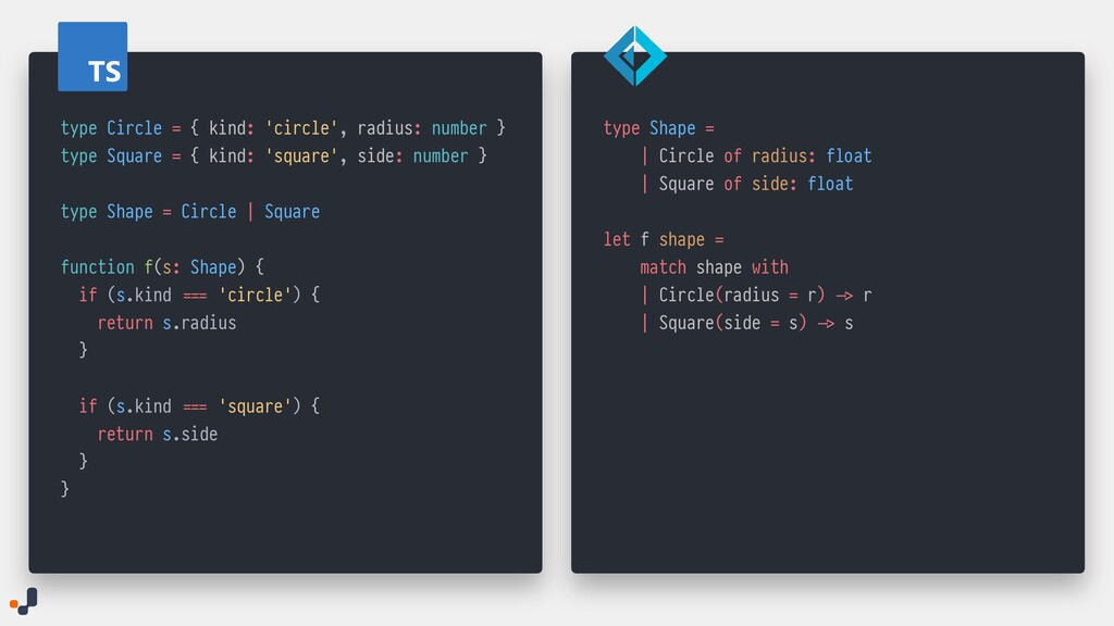 TS type Circle = { kind: 'circle', radius: numb...