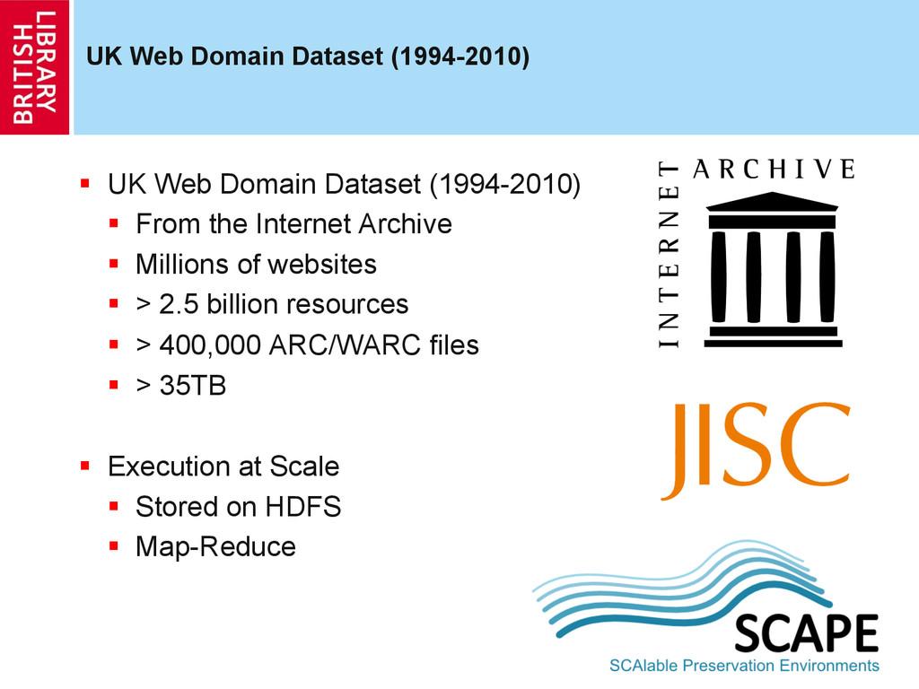 UK Web Domain Dataset (1994-2010)  UK Web Dom...