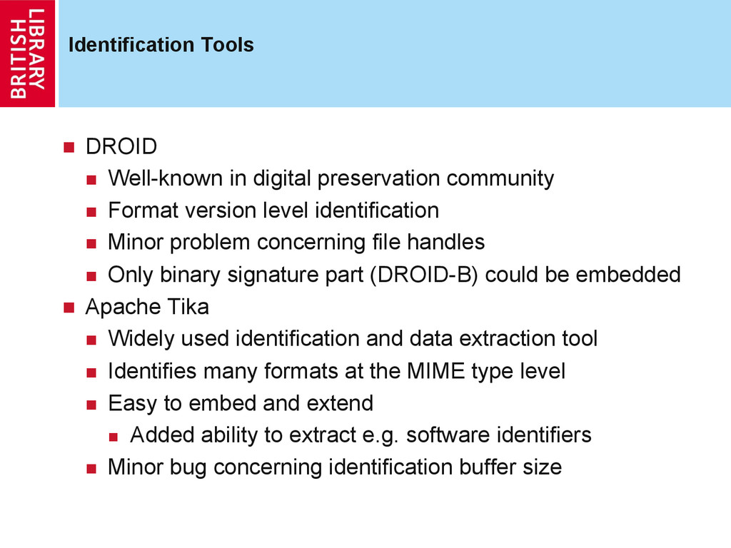 Identification Tools  DROID  Well-known in ...