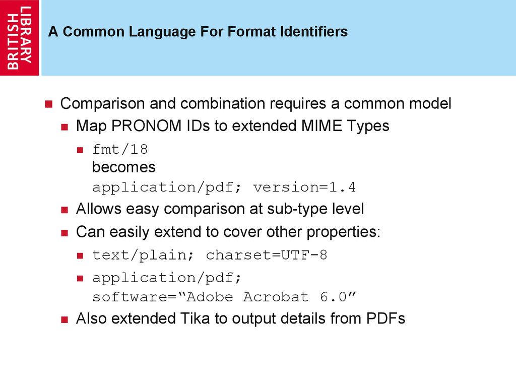 A Common Language For Format Identifiers  Com...