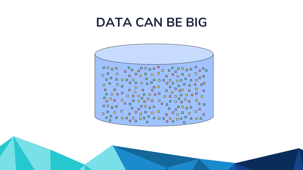DATA CAN BE BIG