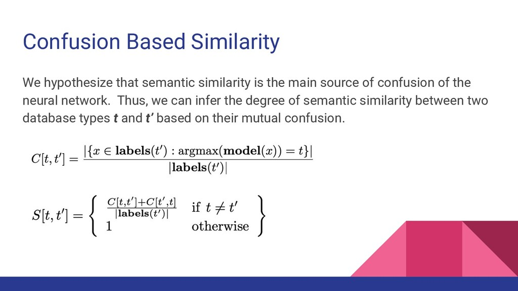 Confusion Based Similarity We hypothesize that ...