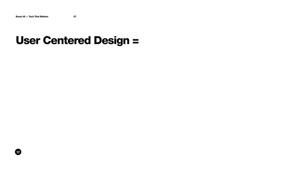 User Centered Design = Boost #8 — Tech That Mat...