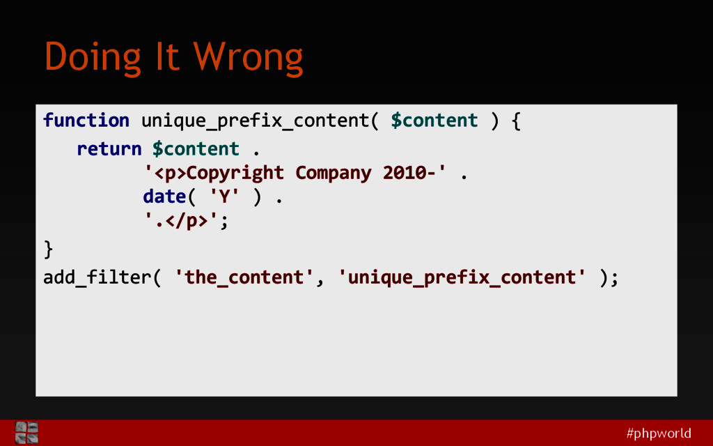 #phpworld Doing It Wrong function unique_prefix...