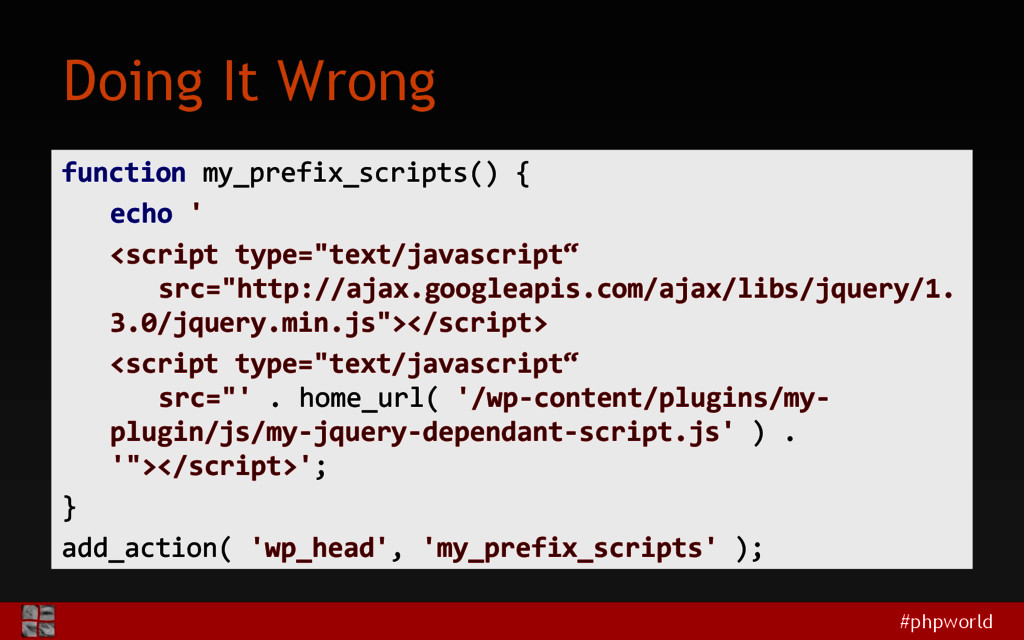 #phpworld Doing It Wrong function my_prefix_scr...
