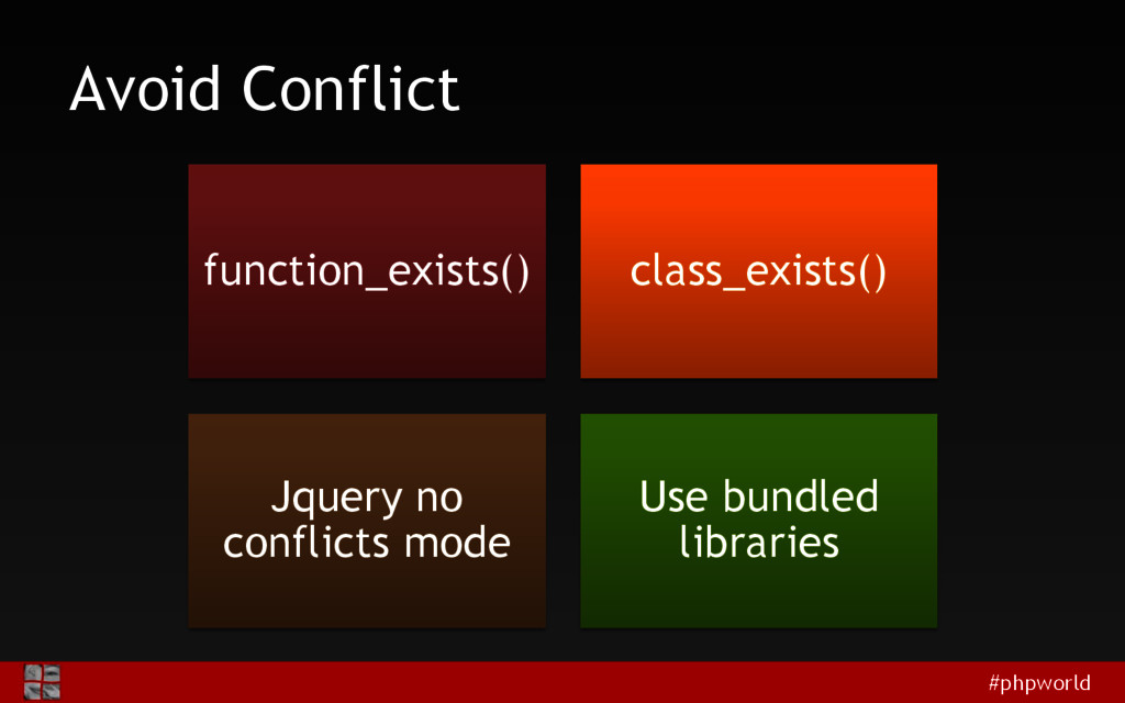 #phpworld Avoid Conflict function_exists() clas...