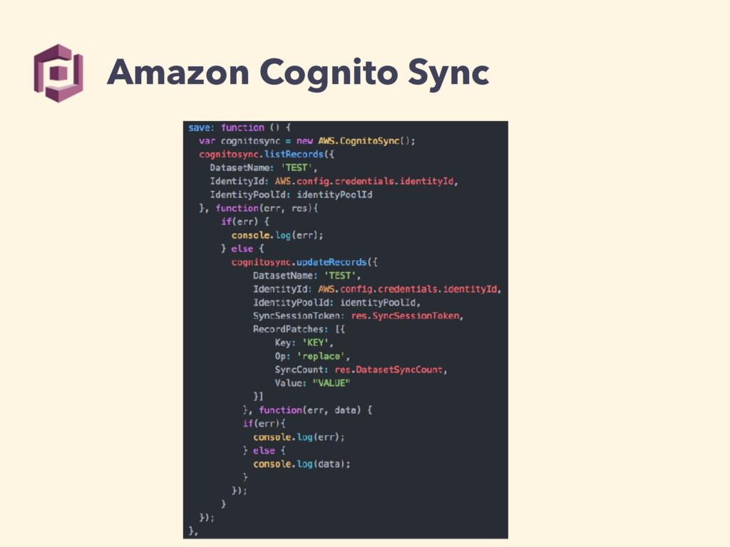 Amazon Cognito Sync