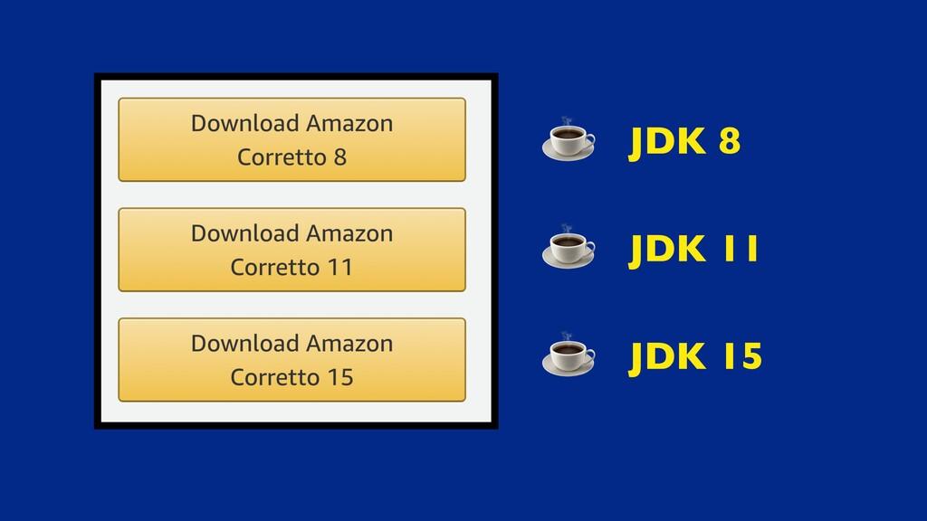 JDK 8 JDK 11 JDK 15