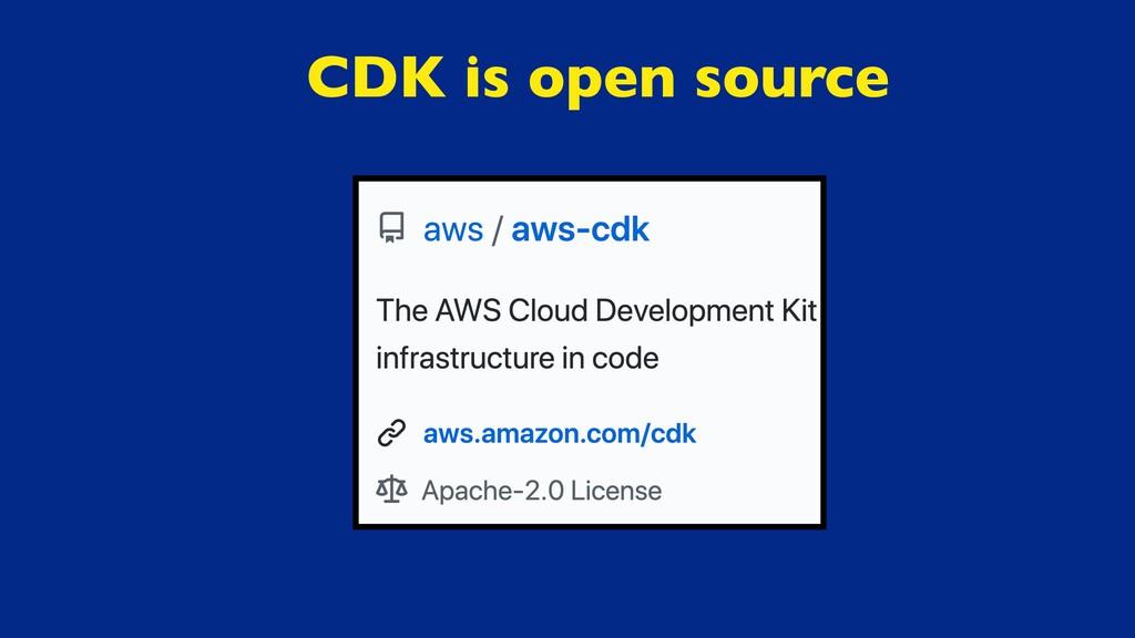 CDK is open source