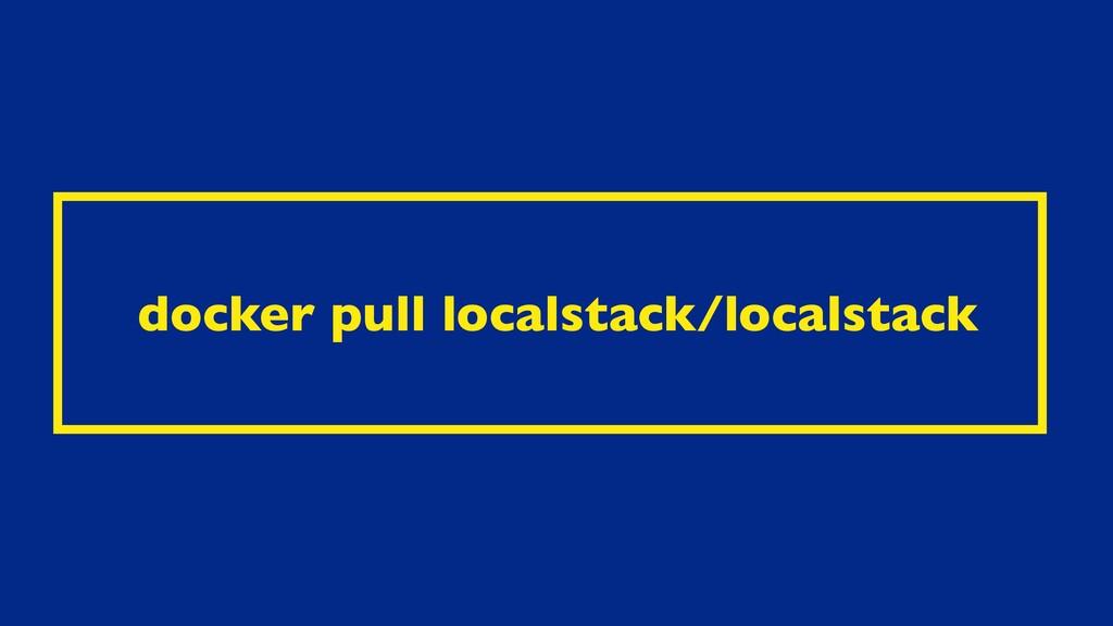 docker pull localstack/localstack