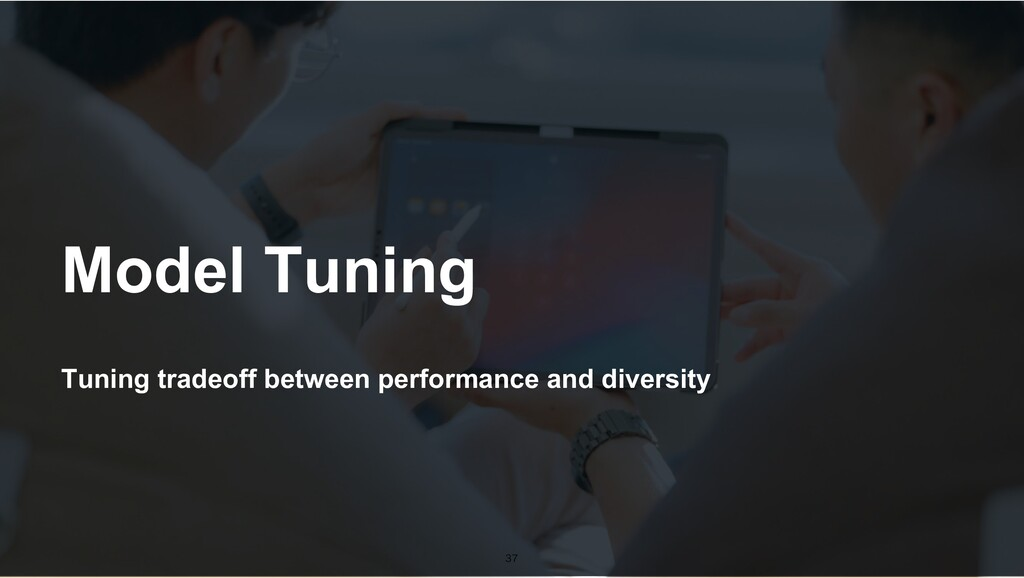 Tuning tradeoff between performance and diversi...