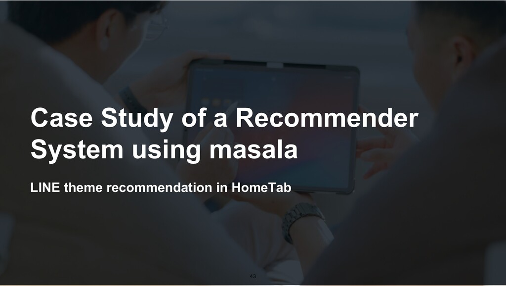LINE theme recommendation in HomeTab Case Study...