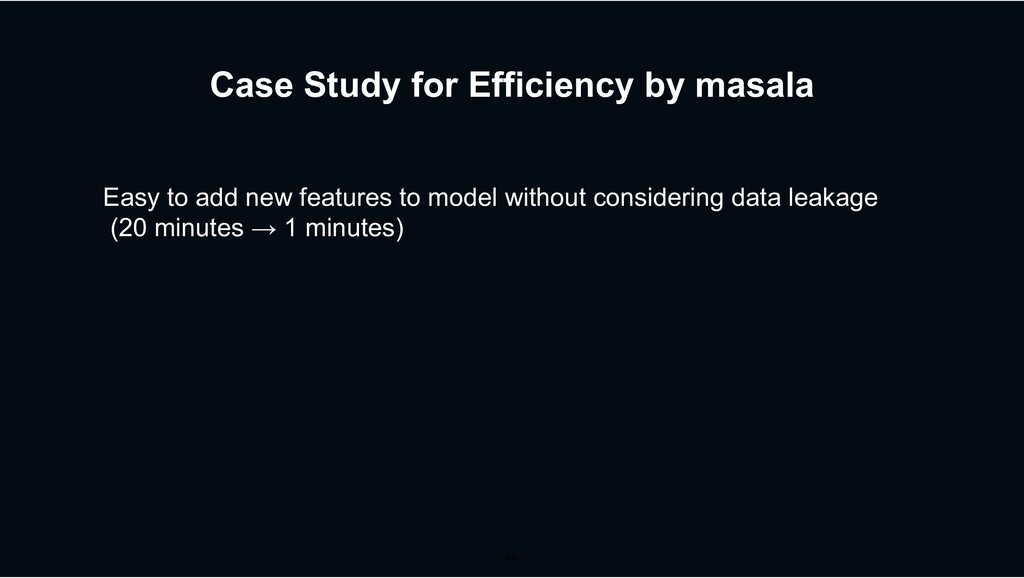 Case Study for Efficiency by masala Easy to add...