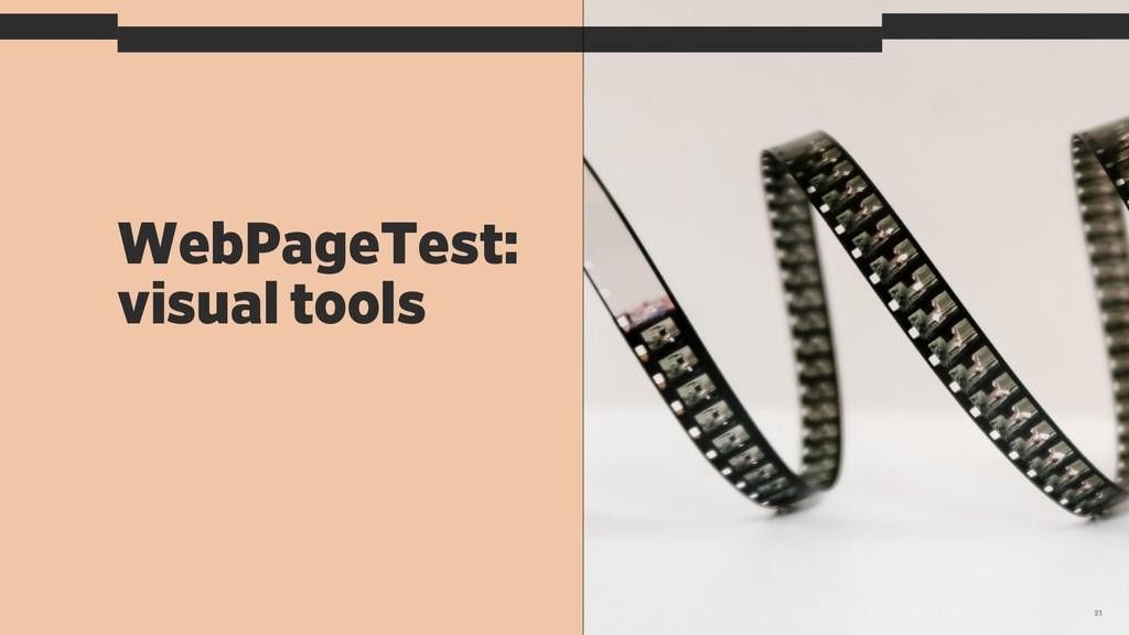WebPageTest: visual tools 31