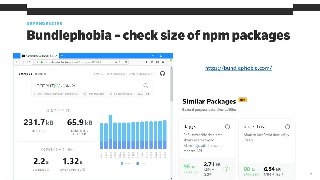 Bundlephobia – check size of npm packages DEPEN...