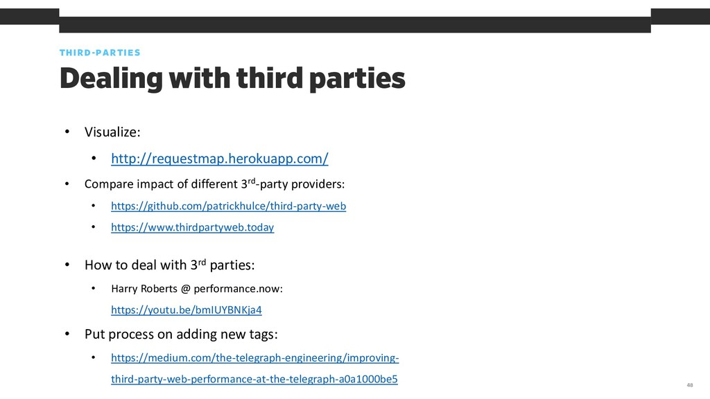 THIRD-PARTIES 48 Dealing with third parties • V...